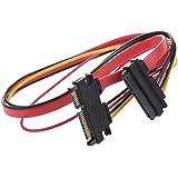 SODIAL(R) Cable de Alimentacion de Datos SATA 15+7 Pin Macho a Hembra