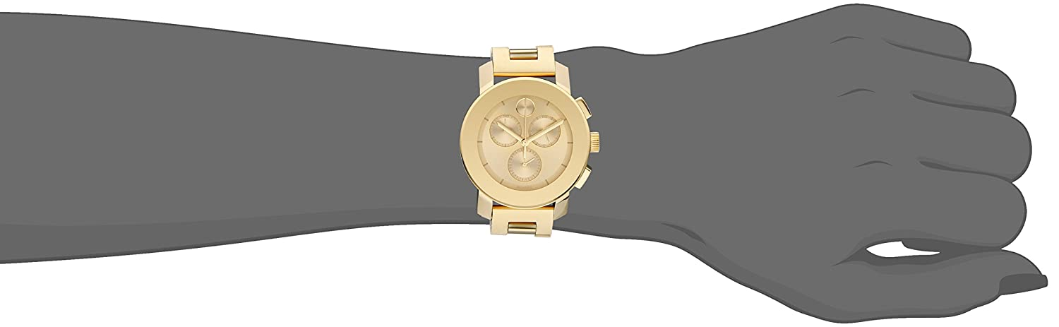 Movado Women s 3600358 Analog Display Quartz Gold-Plated Stainless Steel Watch