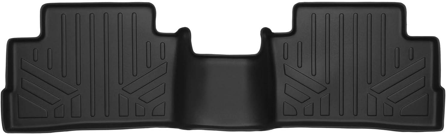 SMARTLINER Custom Fit Floor Mats 2nd Row Liner Black for 2017-2019 Nissan Rogue Sport