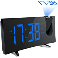 Pictek Projection Clock Digital FM Clock Radio with Dual Alarms