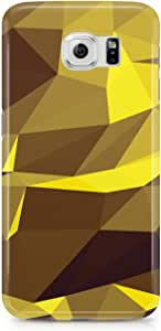 Samsung S6 Case Yellow Geomaterical Pattern-Metal Plate Light Weight Wrap Around Phone Cover