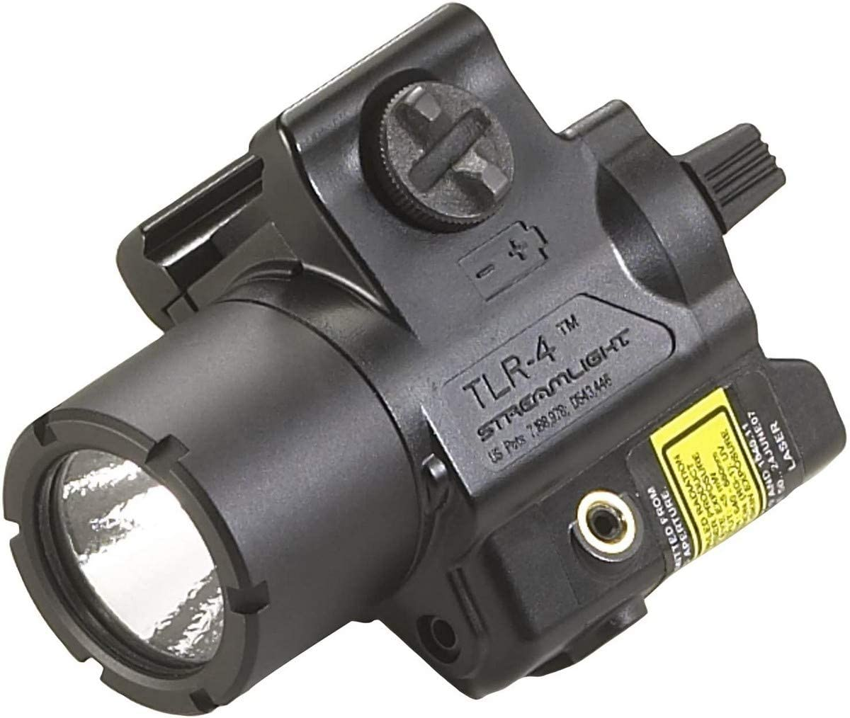 This is an image of Streamlight TLR-4 Tac Light with Laser, black color.