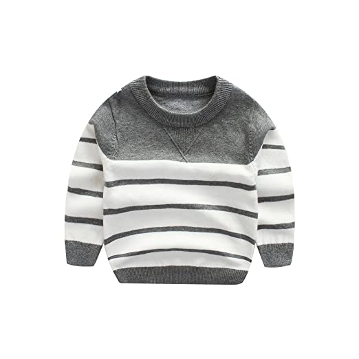 e502de894ce WeddingPach Kids Boys Knitting Sweater Baby Cotton Stripe Cardigan 1-5T  (1T
