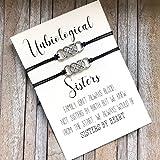 Unbiological sister bracelet, Soul sister bracelet, Big Little sorority, Best friend, Matching jewelry, Friendship bracelet, BFF gifts,