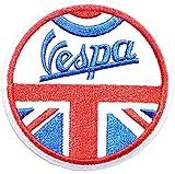 Vespa Lambretta Scooter Piaggio Retro ModLogo Sign Biker Racing Patch Iron on Applique Embroidered T shirt Jacket BY SURAPAN