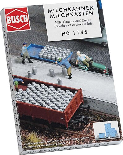 - Busch 1145 Milk Churns and Cases HO Scenery Scale Model Scenery