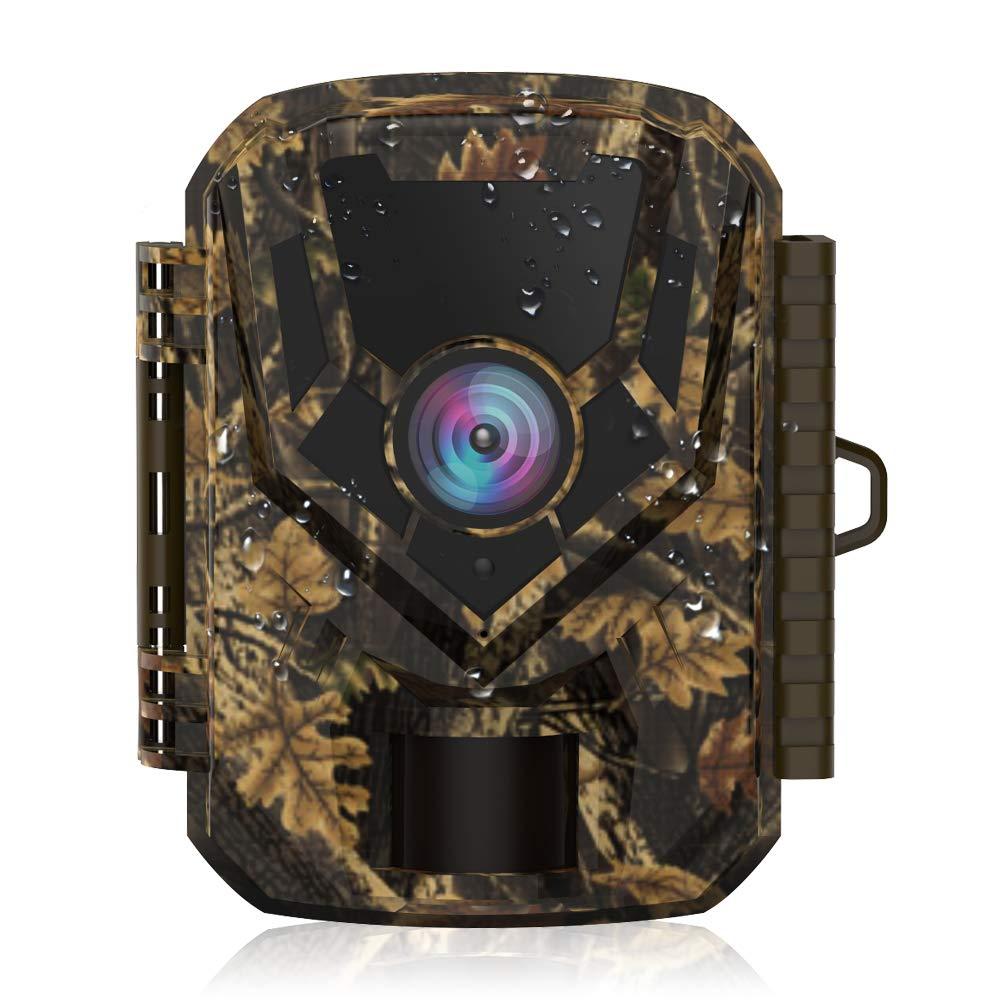 """HOLLYWTOP Cámara de Caza, 1080P 20MP Trail Cámara de Fauna, Movimiento Activado con visión Nocturna por Infrarrojos de 20M y Pantalla LCD de 2.0"""", Impermeable IP66 Cámara de Animal Salvaje product image"""
