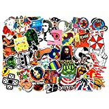 NAVAdeal 100pcs Assorted Kids Friendly Waterproof Vinyl Stickers, Perfect for Laptop, Phone Case, Helmet, Guitar, Skateboard, Luggage Graffiti, Travel Case, Motorcycle and Bicycle – (C)