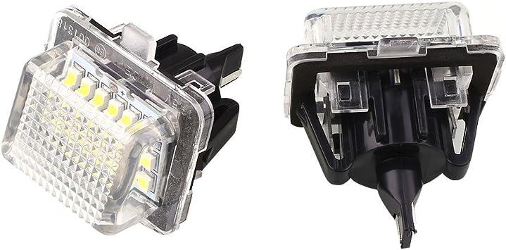 2x Targa lampada si adatta per MERCEDES S w221 c216 illuminazione targa LED