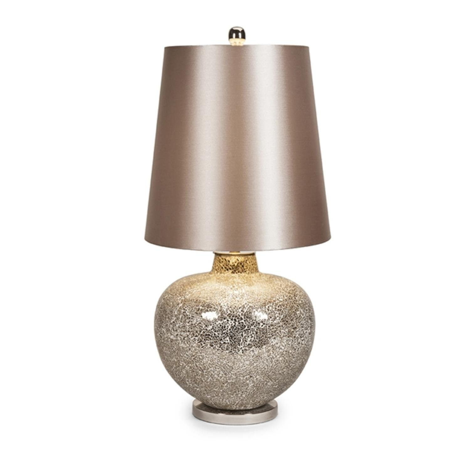 35'' Mosaic Champagne Glass Lamp with Matching Drum Shade
