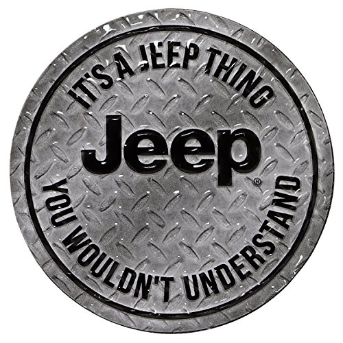 Jeep Magnets - Open Road Brands It's A Jeep Thing Round Embossed Metal Magnet