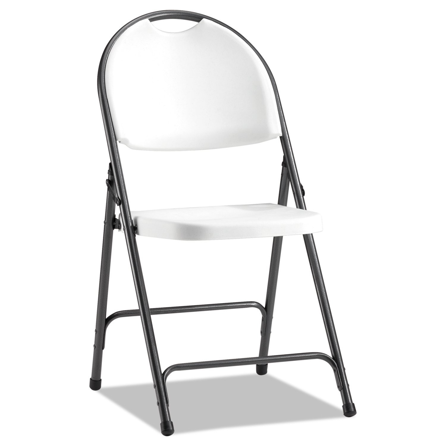 Alera CHAIR001 Molded Resin Folding Chair 4 Carton White Black