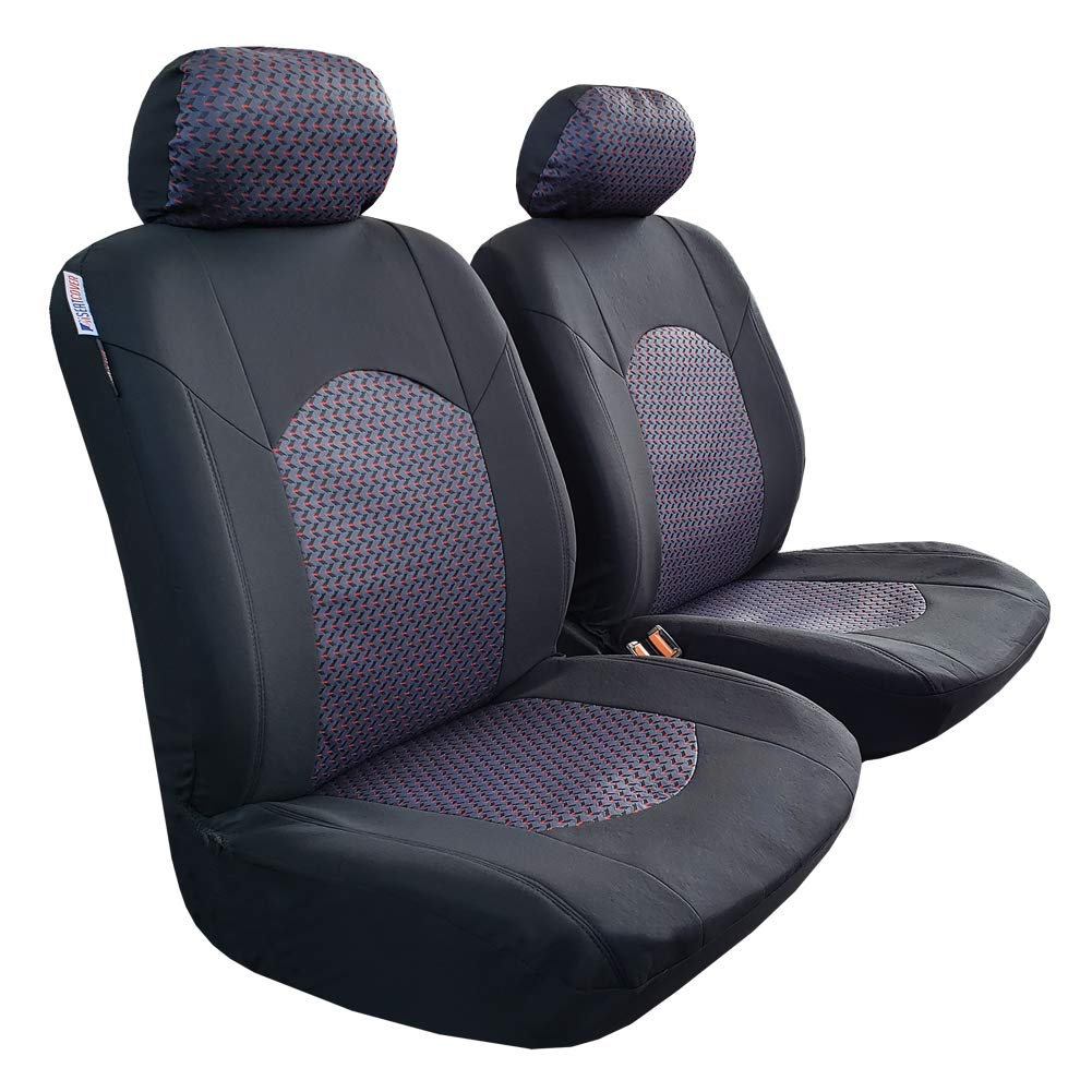 Breathable Front Auto Protectors Airbag Set of 4 seakomoto Purple Jacquard Seat Cover Universal Fit Cars Trucks SUV