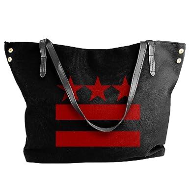 b3a7b58dcb0 Amazon.com: Women's Washington DC Flag Canvas Shoulder Bag Handbags Tote  Bag Casual Work Bag: Clothing