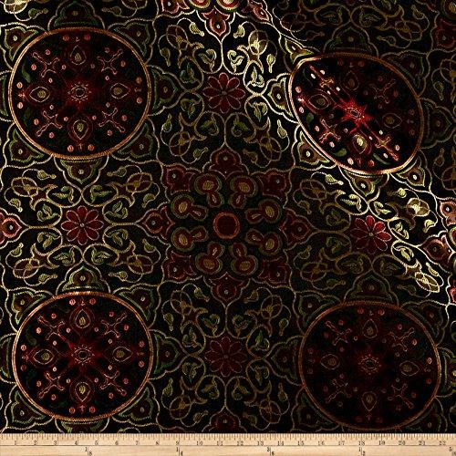 Eroica Izmir Jacquard Midnight Fabric by The Yard