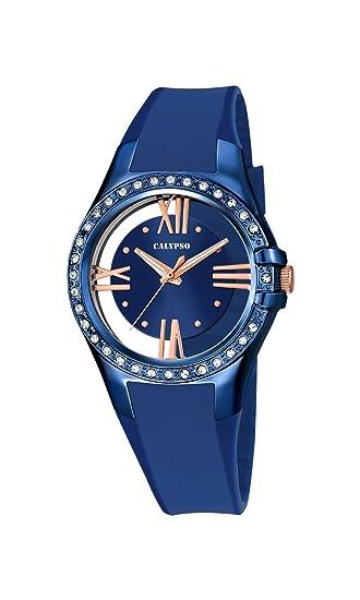 Calypso K5680/6 - Reloj de Pulsera Mujer, Plástico, Color Azul