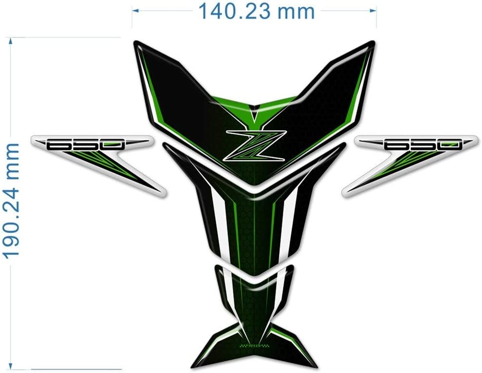 Color : Z1000 Moto Accessoires Autocollants R/éservoir Pad Protector Emblem for Kawasaki Z400 Z650 Z750 Z800 Z900 Z1000 ABS Z1000SX Logo