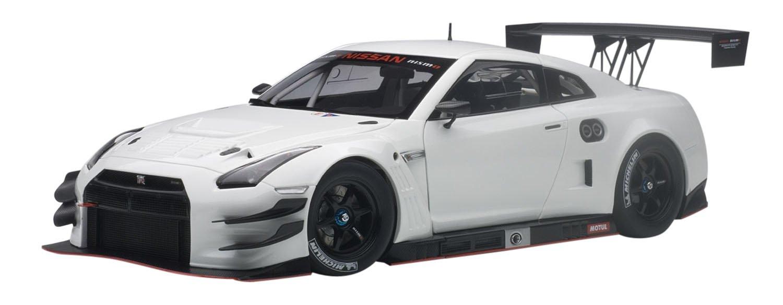 AUTOart – 81576 – Modellbau – Nissan GT-R Nissan Motorsports International GT3 – 2015 – Echelle 1/18, weiß