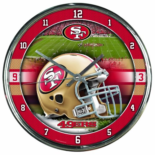 NFL San Francisco 49ers Chrome Clock, 12