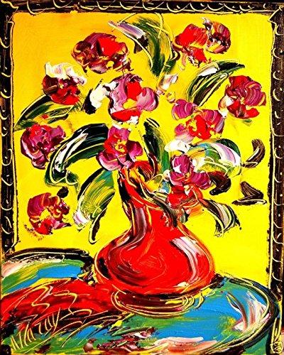 artist-mark-kazav-ready-to-display-palette-knife-texture-impressionist-fine-art-gallery-red-blue-bla