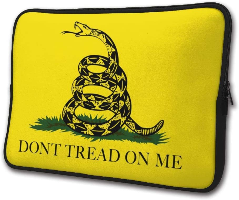 SWEET-YZ Laptop Sleeve Case Dont Tread On Me Snake Notebook Computer Cover Bag Compatible 13-15 Inch Laptop