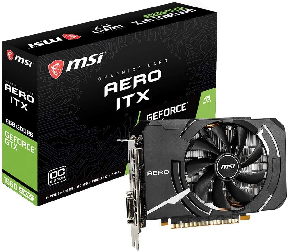 MSI GeForce GTX 1660 Super Aero ITX OC NVIDIA 6GB GDDR6 Graphics Card