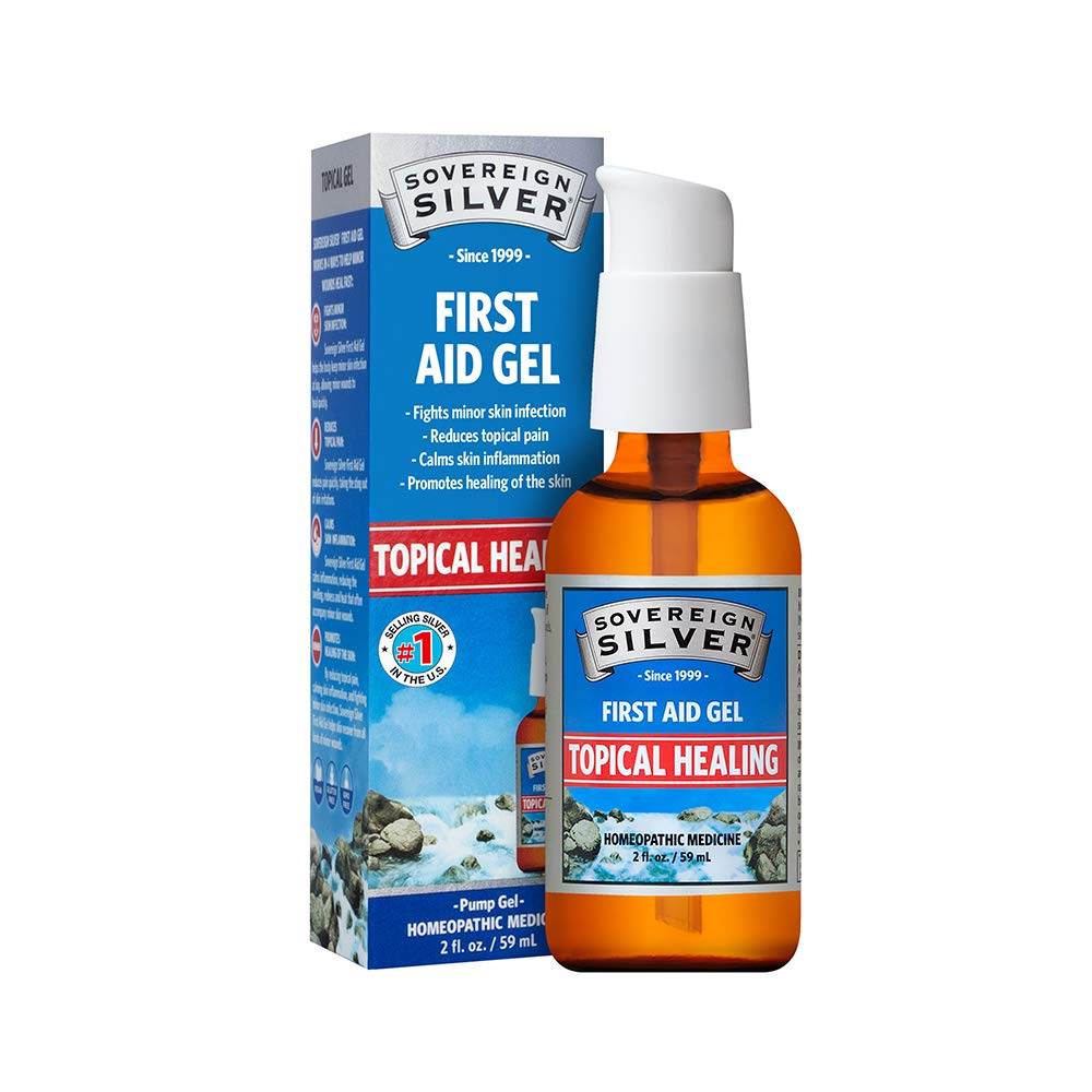 Sovereign Silver First Aid Gel - Homeopathic Medicine, 2oz (59mL) - Be Prepared for Life's Little Mishaps by Sovereign Silver