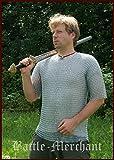Kettenhemd, kurzarm, 9mm ID, verzinkt, Gr. XL von Battle-Merchant Mittelalter Wikinger LARP