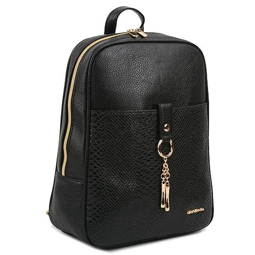 0afa041c7cc4 Copi Women s Modern Design Simple fashion Small Backpacks Black