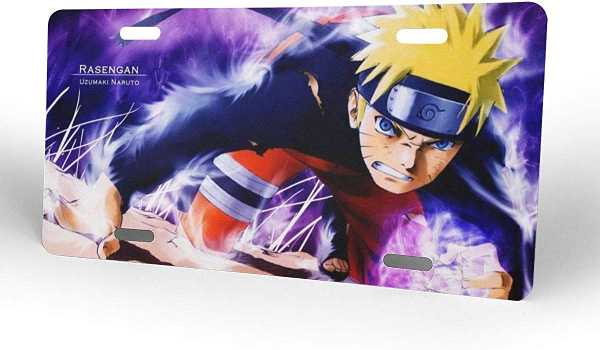 Naruto License Plate Tag Car Accessories 12 X 6 Inches Meirdre Aluminum License Plates