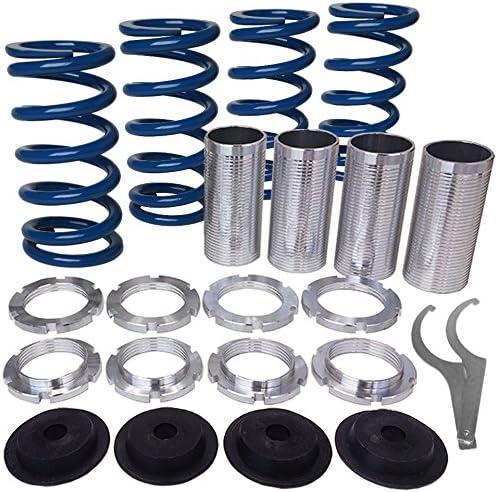 Rev9Power Rev9/_CSK-001-BLUE; Honda//Acura Lowering Springs With Height Adjustment Sleeve Kit Blue