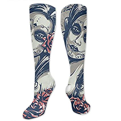 ccd8971a09 Amazon.com: Day Dead Girl Compression Socks Women Men - Best Medical  Running, Athletic, Varicose Veins, Travel.: Sports & Outdoors