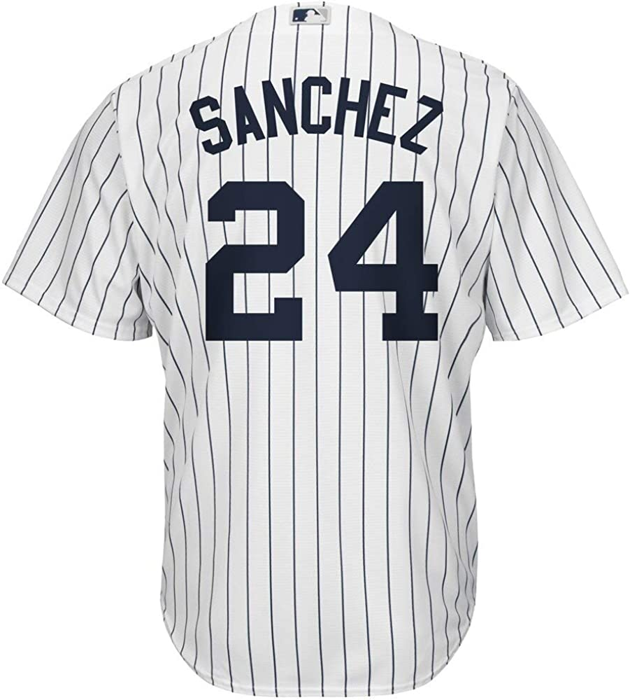Gary Sanchez New York Yankees MLB Majestic Boys Youth 8-20 White Home Cool Base Replica Jersey