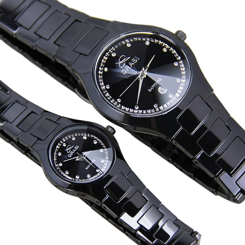 Men and Women Couple Watches /ブラックセラミック時計/シンプルカジュアルwatches-a B06XJNQG9V