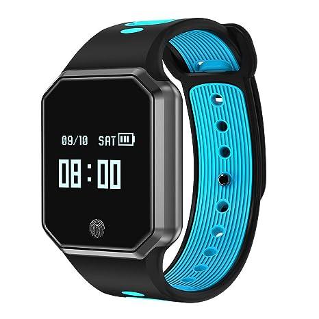 Igemy- Reloj inteligente deportivo de actividad física con frecuencia cardíaca, pulsera inteligente de presión