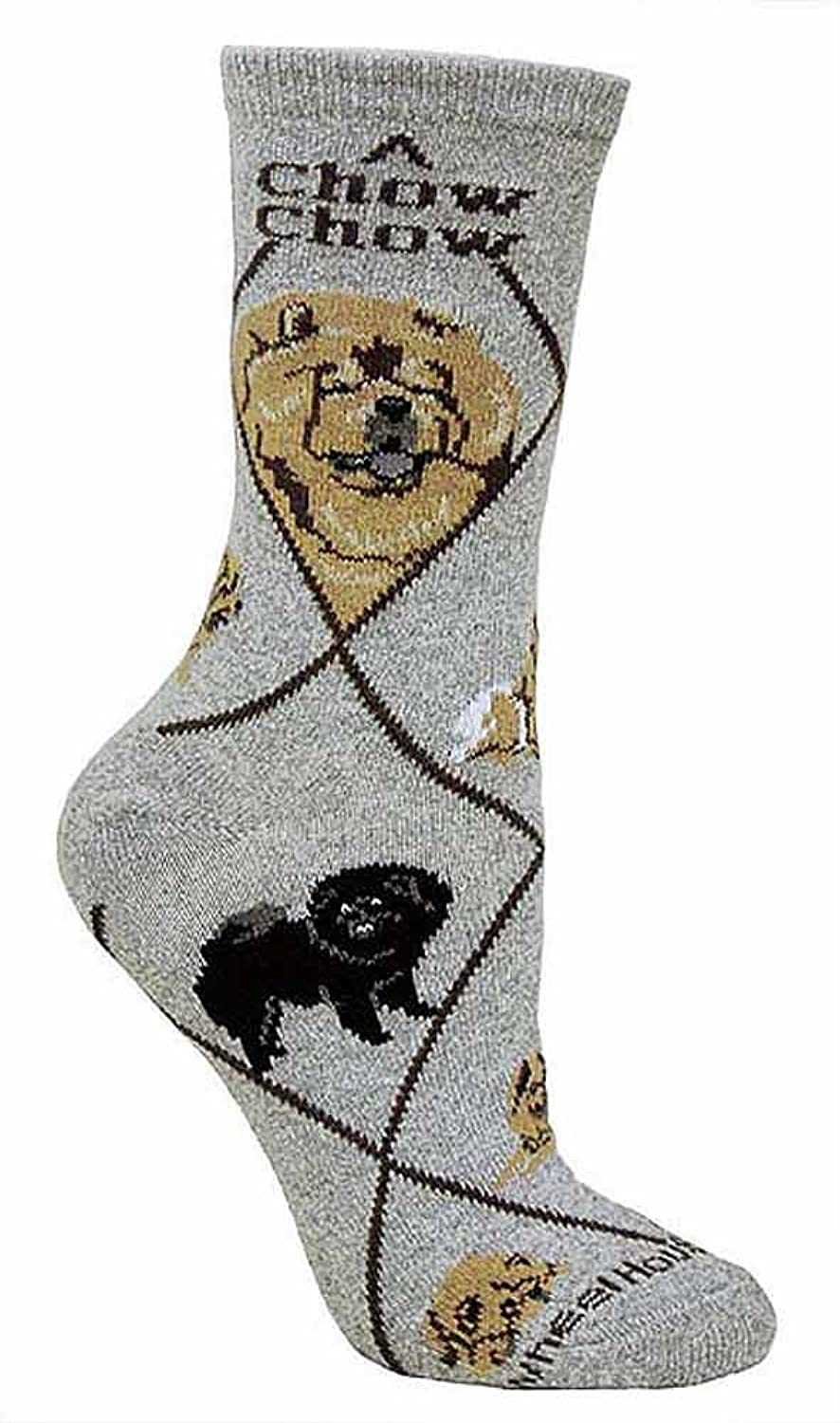Hot Chow Animal Socks On Gray 9-11 for sale