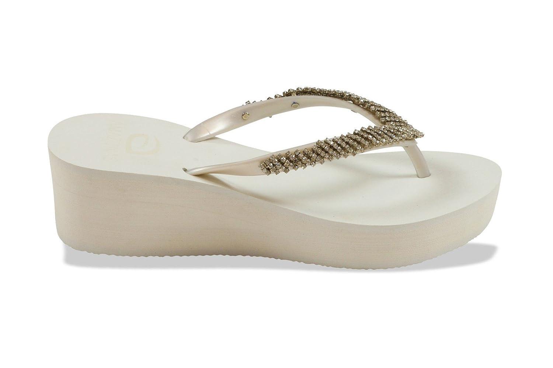 f9a3225cca4c AMAZONAS Flip-Flops mit Absatz Damen Plat Luxury Weiß  Amazon.de  Schuhe    Handtaschen
