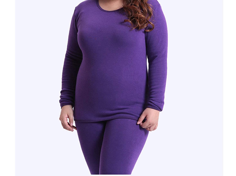 2018 New Winter Womens Fleece Thick Warm Cotton Thermal Underwear Sets Large Size Slim Long Johns Plus Size XL-6XL