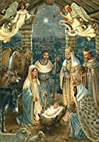 """Royal Nativity"" Holy Family, Wise Men Christmas 28""x40"" House Flag"