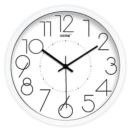 Reloj digital de estilo moderno simple creativo/Relojes de pared silencioso de salón/reloj