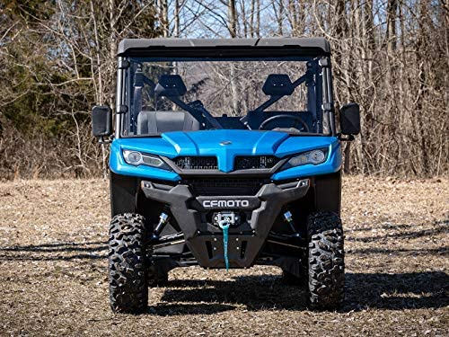 Hard Coated for Extreme Durability SuperATV Heavy Duty Scratch Resistant Full Windshield for CFMOTO UForce 1000 2019