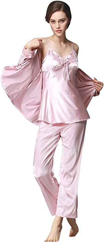 Menschwear Mujer Rayón Pijamas de la Serie Pantalones ...
