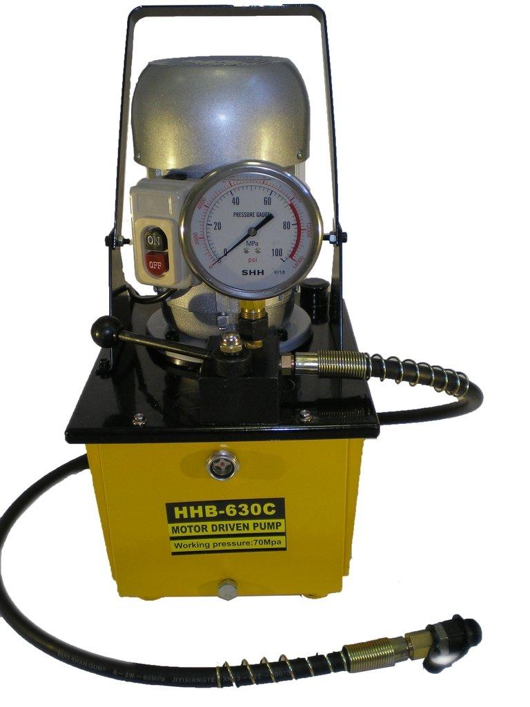 Electric Hydraulic Pump Single Acting Manual Valve Power Pack 10000 PSI B-630C