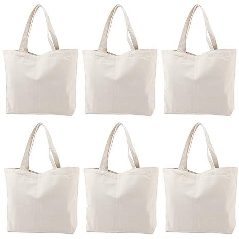 Amazon.com: NiceCode Bolsas de la compra en lienzo en blanco ...