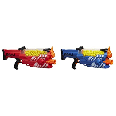 Nerf Rival Nemesis MXVII-10K, Red with Nerf Rival Nemesis MXVII-10K, Blue Bundle: Toys & Games