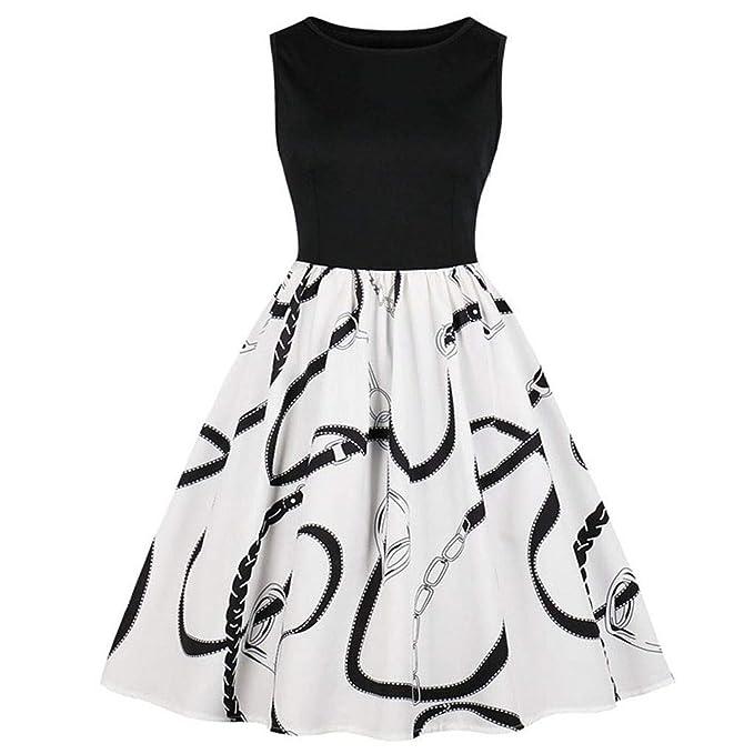 c54c0c7ed061a Amazon.com: Pandaie-Womens Dresses, Women Vintage Sleeveless O Neck ...