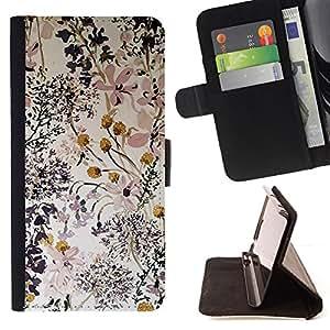 COMPOSITION ART FLOWERS DELICATE/ Personalizada del estilo del dise???¡Ào de la PU Caso de encargo del cuero del tir????n del soporte d - Cao - For Samsung Galaxy S5 Mini, SM-G800