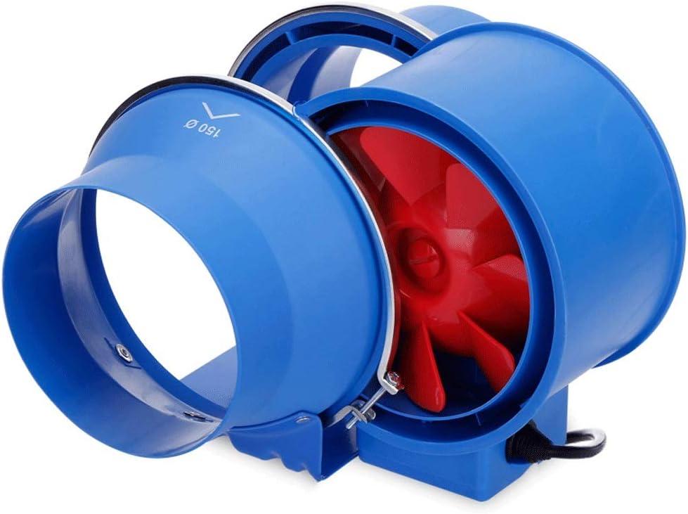 Extractor de aire QIQIDEDIAN Ventilador de Tubo 150 Potente baño Mudo Ventilador de extracción de 6 Pulgadas Cocina Negro de Humo Ventilador de ventilación