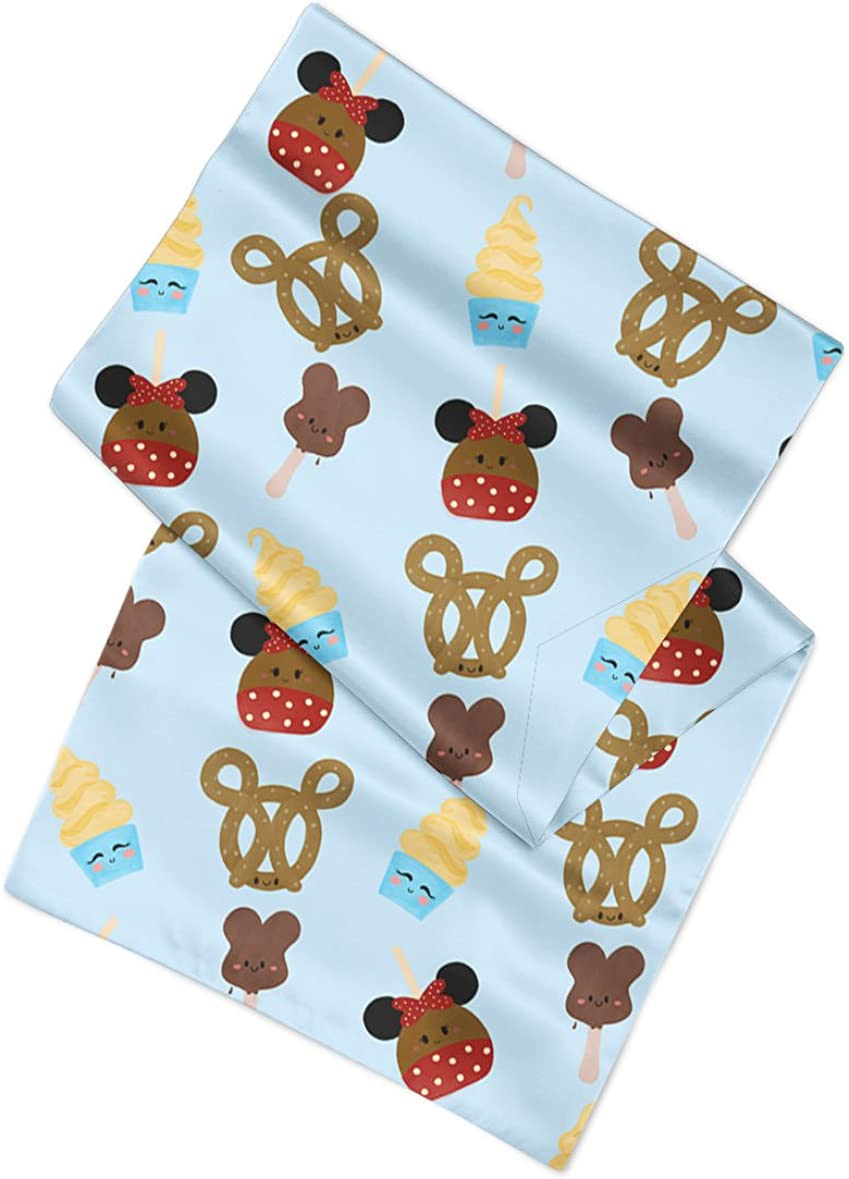 Bandana in 3 sizes Snack Goals Disney Parks Inspired Satin Style Scarf