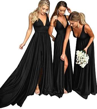 Marsen Bridesmaid Dress V Neck Backless 2018 Women Formal Empire